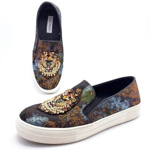 Steve Madden Fiasco Beaded Lion Sparkle Sneakers